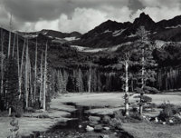 Ansel Adams (American, 1902-1984) Peaks and Meadow, Lyell Fork of the Merced River, Yosemite National Park, Cal