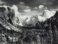 Photographs, Ansel Adams (American, 1902-1984). Yosemite Valley from Inspiration Point, Winter, Yosemite National Park, California, c...