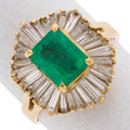 Estate Jewelry:Rings, Colombia Emerald, Diamond, Gold Ring. ...