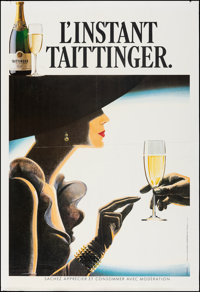 """Taittinger Champagne (c. 1988). Folded, Very Fine-. French Advertising Poster (47.25"""" X 69.25"""") DS. Advertisin..."""