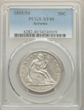 1855/54 50C Arrows XF40 PCGS. PCGS Population: (11/55). NGC Census: (6/38). CDN: $400 Whsle. Bid for NGC/PCGS XF40. Mint...