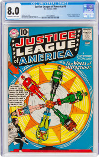 Justice League of America #6 (DC, 1961) CGC VF 8.0 Off-white to white pages