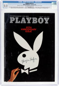 Magazines:Miscellaneous, Playboy V21#1 Signed by Hugh Hefner (HMH Publishing, 1974) CGC VF 8.0 Off-white to white pages....