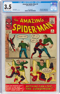 The Amazing Spider-Man #4 (Marvel, 1963) CGC VG- 3.5 Off-white to white pages