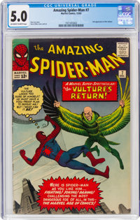 The Amazing Spider-Man #7 (Marvel, 1963) CGC VG/FN 5.0 Off-white to white pages
