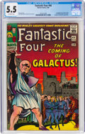 Silver Age (1956-1969):Superhero, Fantastic Four #48 (Marvel, 1966) CGC FN- 5.5 Off-white pages....