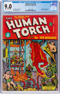 The Human Torch #6 (Timely, 1941) CGC VF/NM 9.0 Cream to off-white pages