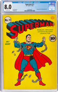 Golden Age (1938-1955):Superhero, Superman #11 (DC, 1941) CGC VF 8.0 Off-white pages....