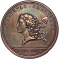 Colonials, (1781) Libertas Americana Medal, Copper, AU55 NGC. Loubat-14, Betts-615....