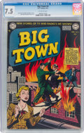 Golden Age (1938-1955):Crime, Big Town #4 (DC, 1951) CGC VF- 7.5 Off-white pages....