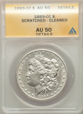 Morgan Dollars, 1889-CC $1 -- Scratched, Cleaned -- ANACS. AU 50 Details. Mintage 350,000....