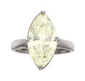 Estate Jewelry:Rings, Diamond, Silver Ring The ring features a marqu...