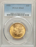 Indian Eagles: , 1932 $10 MS65 PCGS. PCGS Population: (1565/137). NGC Census: (2359/156). CDN: $2,500 Whsle. Bid for NGC/PCGS MS65. Mintage ...