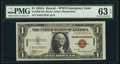 Fr. 2300 $1 1935A Hawaii Silver Certificate. PMG Choice Uncirculated 63 EPQ