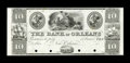 Obsoletes By State:Louisiana, New Orleans, LA- Bank of Orleans $10 G30 Proof. ...