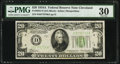 Fr. 2055-D $20 1934A Federal Reserve Note. PMG Very Fine 30