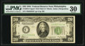 Small Size:Federal Reserve Notes, Fr. 2054-C* $20 1934 Dark Green Seal Mule Federal Reserve Star Note. PMG Very Fine 30.. ...