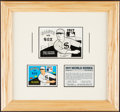 Baseball Collectibles:Others, Framed 1968 Laughlin (Fleer) 1917 Word Series Paste Up.
