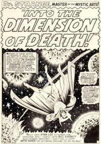 """Bill Everett Strange Tales #152 Complete 10-Page Story """"Into the Dimension of Death"""" Original Art Marvel, 1967..."""