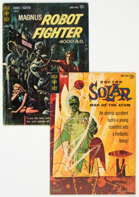 Doctor Solar Man of the Atom #1 and Magnus Robot Fighter #1 (Gold Key, 1962-63) Condition: Average GD/VG.... (Total: 2 )