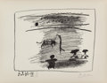 Prints & Multiples, Pablo Picasso (1881-1973). Les Banderilles, from A los toros avec Picasso, 1961. Lithograph on wove paper. 7-1/4 x 9...