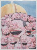 Prints & Multiples, Yue Minjun (b. 1962). Smile-ism No. 3, 2006. Lithograph in colors on paper. 43-1/2 x 31 inches (110.5 x 78.7 cm) (sheet)...
