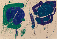 Sam Francis (1923-1994) Blue-Green (SF-318), 1963 Lithograph in colors on Rives BFK paper 24-3/4
