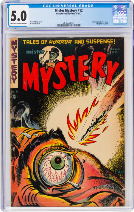 Mister Mystery #12 (Aragon, 1953) CGC VG/FN 5.0 Cream to off-white pages....