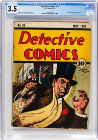 Detective Comics #15 (DC, 1938) CGC VG- 3.5 Light tan to off-white pages