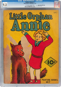 Feature Books #7 Little Orphan Annie - Mile High Pedigree (David McKay Publications, 1937) CGC NM- 9.2 Off-white to whit...