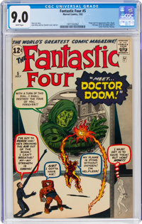 Fantastic Four #5 (Marvel, 1962) CGC VF/NM 9.0 White pages
