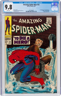 The Amazing Spider-Man #52 (Marvel, 1967) CGC NM/MT 9.8 White pages