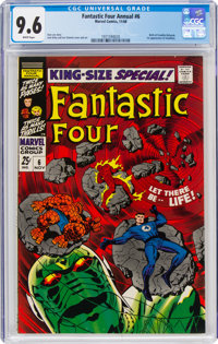 Fantastic Four Annual #6 (Marvel, 1968) CGC NM+ 9.6 White pages
