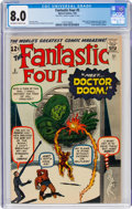 Silver Age (1956-1969):Superhero, Fantastic Four #5 Signed by Jack Kirby (Marvel, 1962) CGC VF 8.0 Off-white to white pages....