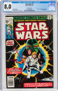 Star Wars #1 35¢ Price Variant (Marvel, 1977) CGC VF 8.0 White pages