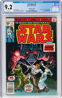 Star Wars #4 35¢ Price Variant (Marvel, 1977) CGC NM- 9.2 White pages