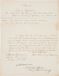 Autographs:Military Figures, Carey W. Styles and Alexander R. Lawton Special Requisition Signed...