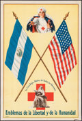 """Movie Posters:Miscellaneous, The Red Cross, the Mother of All Nations (The Red Cross, c.1916). Very Fine-. Nicaraguan Language Poster (10.5"""" X 15.5"""") """"Sy..."""