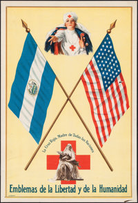 """The Red Cross, the Mother of All Nations (The Red Cross, c.1916). Very Fine-. Nicaraguan Language Poster (10.5"""" X 1..."""