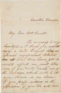 Autographs:U.S. Presidents, Mary Todd Lincoln Autograph Letter Signed as First Lady....