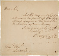 George Washington Autograph Letter Signed