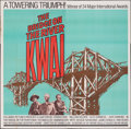 "Movie Posters:War, The Bridge on the River Kwai (Columbia, R-1972). Folded, Fine/Very Fine. Six Sheet (81"" X 81""). War.. ..."
