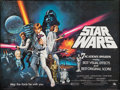 """Movie Posters:Science Fiction, Star Wars (20th Century Fox, 1978). Rolled, Fine+. Academy Awards British Quad (30"""" X 40"""") Tom Chantrell Artwork. Science Fi..."""