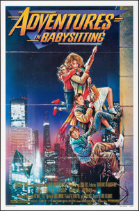 "Adventures in Babysitting (Touchstone, 1987). Folded, Very Fine. One Sheet (27"" X 41""). Drew Struzan Artwork..."