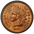 Indian Cents: , 1873 1C Open 3 MS64 Red PCGS. PCGS Population: (60/33 and 2/1+). NGC Census: (17/9 and 0/0+). CDN: $1,250 Whsle. Bid for NG...