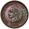 1882 1C Repunched Date MS63 Brown PCGS. PCGS Population: (72/161 and 0/3+). NGC Census: (68/196 and 0/1+). CDN: $60 Whsl...
