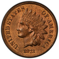 1873 1C Open 3 MS65 Red and Brown PCGS. CAC. PCGS Population: (92/10 and 1/0+). NGC Census: (87/8 and 0/0+). CDN: $1,050...