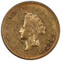 1856-S G$1 Type Two AU53 PCGS. PCGS Population: (17/90 and 0/3+). NGC Census: (25/150 and 0/1+). CDN: $2,000 Whsle. Bid...