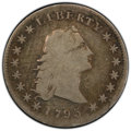 1795 $1 Flowing Hair, Three Leaves, B-6, BB-25, R.3, VG10 PCGS. PCGS Population: (1/11 and 0/0+). NGC Census: (2/22 and...