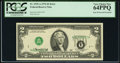 Inverted Third Printing Error Fr. 1935-A $2 1976 Federal Reserve Note. PCGS Very Choice New 64PPQ